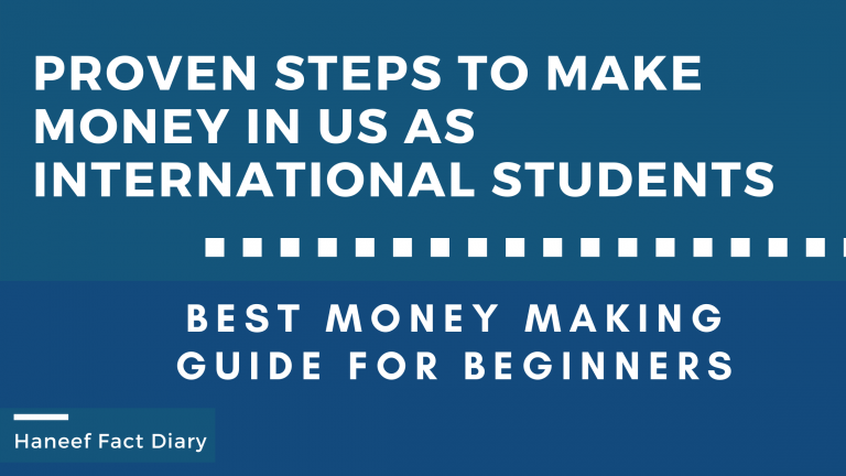 Proven Steps to make money in us as international students